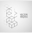 abstract geometry cube vector image vector image