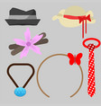 accessories for man and woman pack free vector image vector image