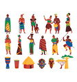 african culture icons collection vector image vector image