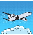 aircraft retro style pop art air vector image vector image