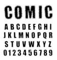 alphabet font comic halftone design vector image vector image
