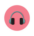 Audio headphone icon graphic