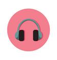 audio headphone icon graphic vector image vector image