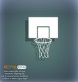 Basketball backboard icon On the blue-green vector image