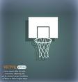 Basketball backboard icon On the blue-green