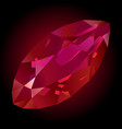 beautiful shiny ruby vector image vector image