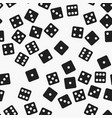 black and white dice pattern seamless vector image vector image