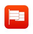 black flag icon digital red vector image vector image