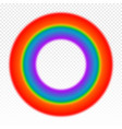 bright circle rainbow on transparent vector image vector image