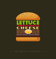 burger recipe info graphic lettering vector image vector image