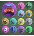 Car Repair Cartoon Icons Set vector image vector image