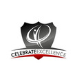 celebrate excellence logo design template vector image