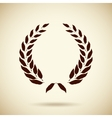circular laurel wreath vector image vector image