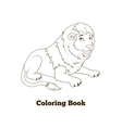 Coloring book lion african animal cartoon vector image