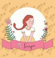 cute horoscope zodiac girl scorpio vector image