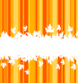 falling leaves on colorful background for seasonal vector image vector image