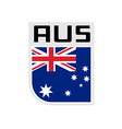 Flag of australia icon vector image