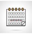 Flat icon for menstrual calendar vector image vector image