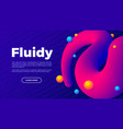 fluid shape with colorful balls creative landing vector image