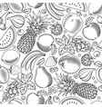 fruit and berries seamless pattern vector image