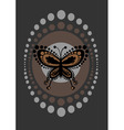 funky butterfly vector image