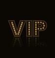 golden neon shining vip symbol vector image vector image