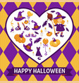 halloween background poster frame with vector image vector image