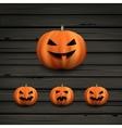 Haloween pumpkins vector image vector image