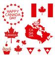 happy canada day card vector image vector image