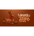 happy easter festive greeting card design with vector image vector image