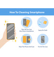how to cleaning smartphone spraying alcohol