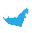 map of united state of arab emirates high vector image vector image