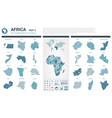 maps set high detailed 46 maps of african vector image