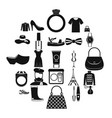 mode icons set simple style vector image