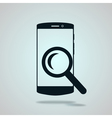 Modern flat phone search icon vector image vector image