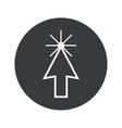 Monochrome round arrow cursor icon vector image vector image