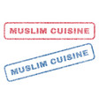 muslim cuisine textile stamps vector image vector image