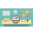 Office workspace interior flat vector image vector image