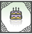 outline birthday cake with candles icon Modern vector image vector image