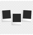 Photo frame on a transparent background vector image vector image