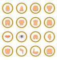plastic surgeon icons circle vector image vector image