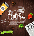 Premium coffee advertising poster Typography vector image vector image