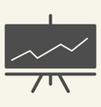 presentation solid icon infographic vector image