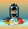 protein nutrition vector image vector image