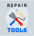 repair tools spatula roller icon creative graphic vector image
