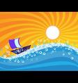 sea wave vector image vector image