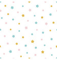 seamless pattern with colored stars baby print vector image