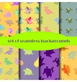 Set Dinosaurs Seamless backgrounds vector image vector image