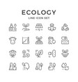set line icons of ecology vector image