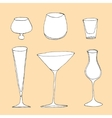 Set of different glass vector image